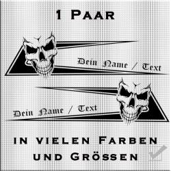 Zacken für dein Fahrerhaus Totenkopf Variante 1 und deinem eigenem Namen.Jetzt bestellen!✅
