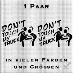 Don`t touch my Truck Woman Aufkleber Paar. Jetzt bestellen!✅
