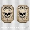 Sticker mit Totenkopf Poison extremely dangerous. Jetzt bestellen!✅
