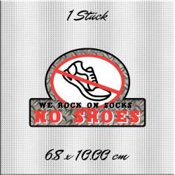 No Shoes Aufkleber bedruckt. Jetzt bestellen!✅