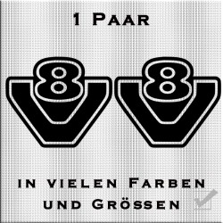 V8 Aufkleber 1 Paar. Jetzt bestellen!✅