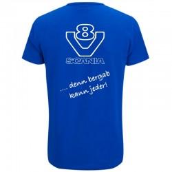 T-Shirt - Scania V8 - denn bergab kann jeder