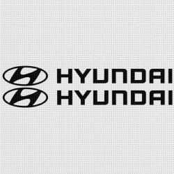 Hyundai Aufkleber - 1 Paar