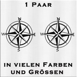 Kompass Aufkleber - Paar