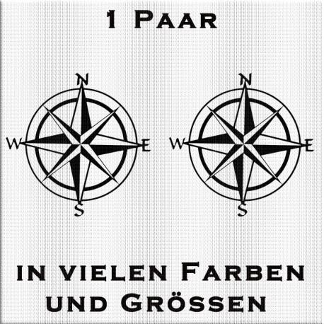 1 Paar Kompass - Windrosen Aufkleber. Jetzt preiswert bestellen!