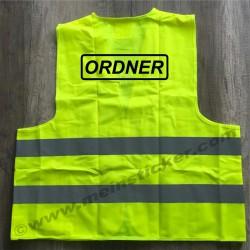 Warnweste für Ordner und Einweiser. Jetzt bestellen!