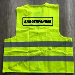 Warnweste für Baggerfahrer. Jetzt bestellen!