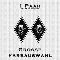 Raute Aufkleber mit Greif - 1Paar. Jetzt bestellen!