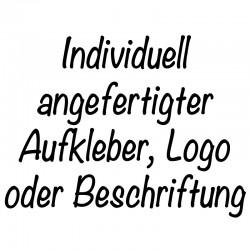 Aufkleber-Logo-Beschriftung nach Kundenwunsch