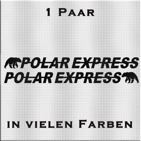 1 Paar Polar Express Aufkleber.  Jetzt bestellen✅