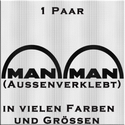MAN Schriftzug Aufkleber Paar - Variante 2