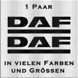 DAF Schriftzug Aufkleber - Paar
