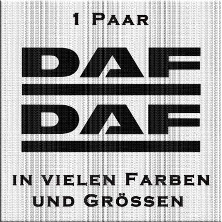"""1 Paar """"DAF"""" Schriftzug in verschiedenen Farben. Jetzt bestellen!"""