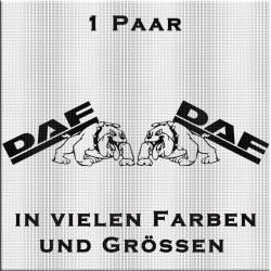 DAF-Schriftzug Paar mit Bulldogge. Jetzt bestellen!