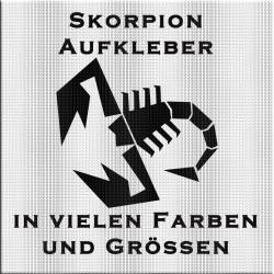 """""""Abarth"""" Skorpion Aufkleber in verschiedenen Farben und Grössen. Jetzt schnell bestellen!"""