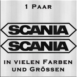 Scania mit Umrandung Aufkleber-Paar