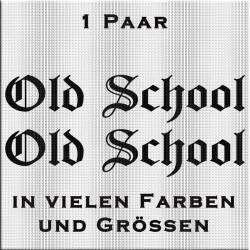 Old School Aufkleber Paar