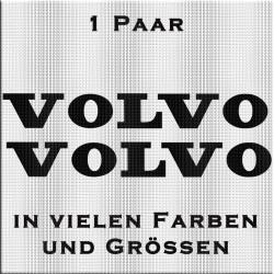 Volvo Schriftzug Aufkleber Paar