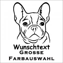 Hundeaufkleber Französische Bulldogge jetzt bestellen✅