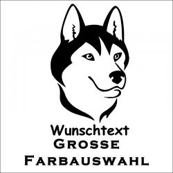 Hundeaufkleber Husky jetzt bestellen!✅