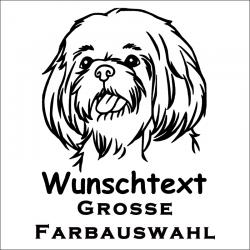Hundeaufkleber Shih Tzu jetzt bestellen!✅