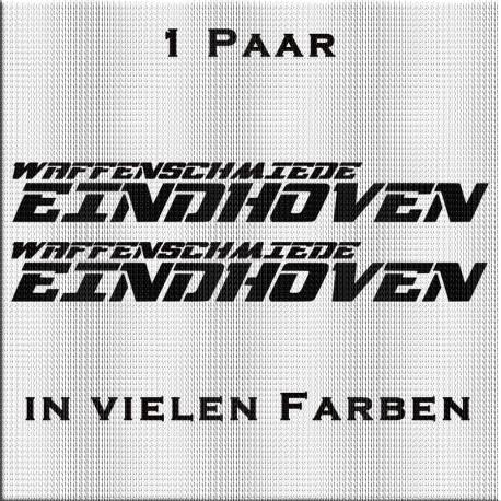 Für die Seitenscheibe: Waffenschmiede Eindhoven Aufkleber. Jetzt gleich bestellen! ✅