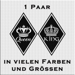 Raute Aufkleber Paar King & Queen jetzt bestellen! ✅