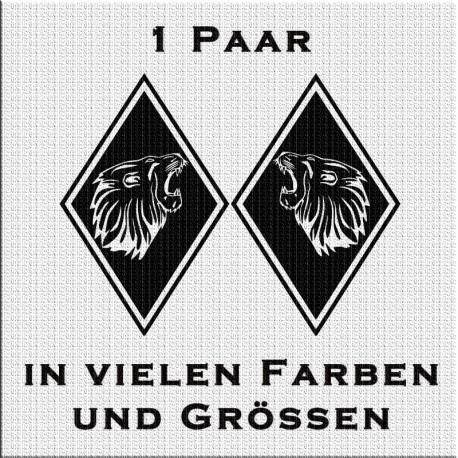 Raute Aufkleber Paar mit MAN böser Löwe jetzt bestellen! ✅
