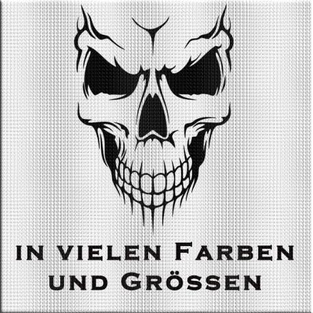 Totenkopf Aufkleber jetzt bestellen! ✅