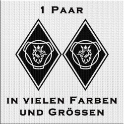 Raute Aufkleber Paar mit Scania Vabis Greif jetzt bestellen!✅