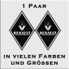 Raute Aufkleber Paar mit Renault jetzt bestellen!✅