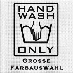 HAND WASH ONLY Aufkleber Paar