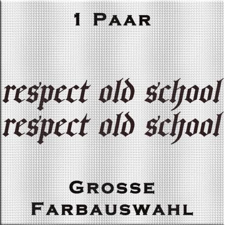 respect old school Aufkleber. Jetzt bestellen! ✅