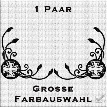 Fensterdekor Klassik Paar Eiserne Kreuz jetzt bestellen!✅