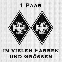 Raute Aufkleber Paar Eiserne Kreuz jetzt bestellen!✅