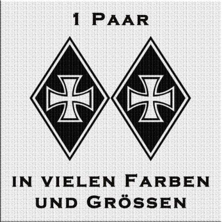 Raute Aufkleber Paar Eisernes Kreuz Variante 2 jetzt bestellen!✅