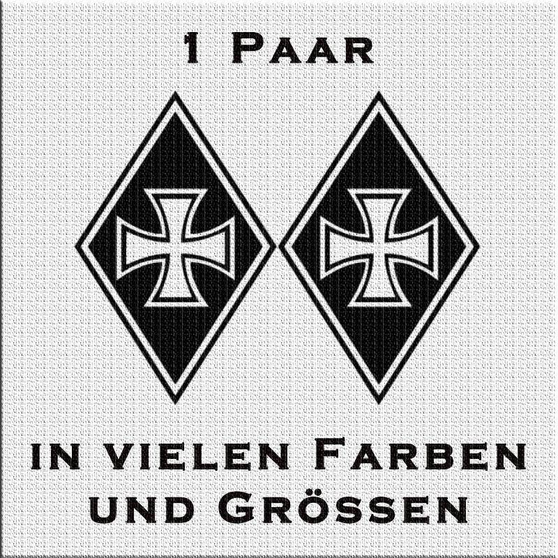 Raute Aufkleber Paar Eisernes Kreuz Variante 2
