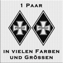Raute Aufkleber Paar Eisernes Kreuz Oldschool jetzt bestellen!✅