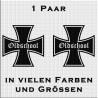 Eiserne Kreuz Aufkleber Paar Oldschool. Jetzt bestellen!✅