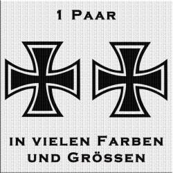 Eisernes Kreuz Aufkleber Paar. Jetzt bestellen!✅