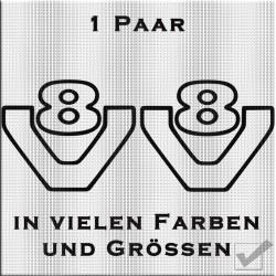 V8 Aufkleber - in Kontur. Jetzt bestellen! ✅