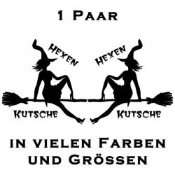 Hexe Aufkleber Hexenkutsche Aufkleber Paar. Jetzt bestellen!✅