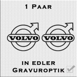 Sandstrahloptik Aufkleber Paar Volvo