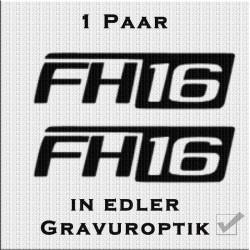 Sandstrahloptik Aufkleber Paar Volvo FH16. Jetzt bestellen!✅