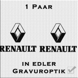 Sandstrahloptik Aufkleber Paar Renault. Jetzt bestellen!✅
