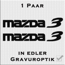 Sandstrahloptik Aufkleber Paar Mazda. Jetzt bestellen!✅