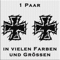Eisernes Kreuz Aufkleber Paar Variante 2