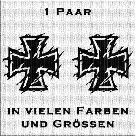 Eisernes Kreuz Aufkleber Paar Variante 2. Jetzt bestellen!✅