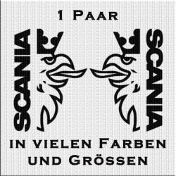 Scania-Schrift mit Greif Aufkleber Paar