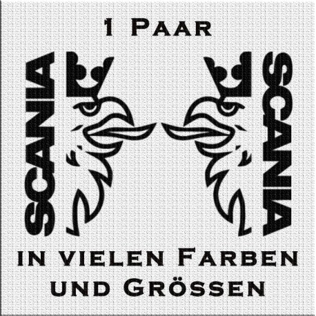 Scania-Schrift mit Greif Aufkleber Paar. Jetzt bestellen!✅